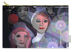 Carry-all Pouch featuring the digital art 1970 - A Ceremony by Irmgard Schoendorf Welch