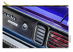 Carry-all Pouch featuring the photograph 1971 Cuda by Brad Allen Fine Art