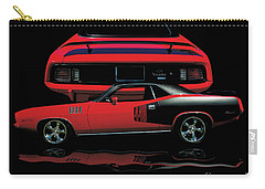 1971 Plymouth Cuda 440 Six Pack    Carry-all Pouch by Peter Piatt