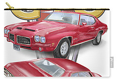 Carry-all Pouch featuring the digital art 1971 Pontiac Gto by Thomas J Herring