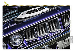 Carry-all Pouch featuring the photograph 1971 Shaker Cuda by Brad Allen Fine Art
