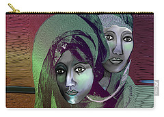 Carry-all Pouch featuring the digital art 1972 - 0n A Gloomy Day - 2017 by Irmgard Schoendorf Welch