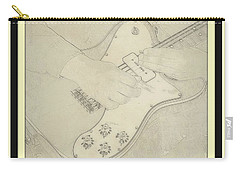 Carry-all Pouch featuring the photograph 1972 Fender Telecaster Custom by Chris Berry