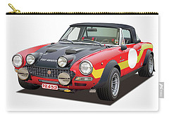 1972 Fiat Abarth 124 Rally Illustration Carry-all Pouch by Alain Jamar