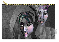 Carry-all Pouch featuring the digital art 1973 - Exotic 2017 by Irmgard Schoendorf Welch