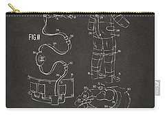 1973 Space Suit Elements Patent Artwork - Gray Carry-all Pouch