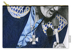 1975 Dark Blue Two Piece Suit Blue Gold Ornaments Carry-all Pouch