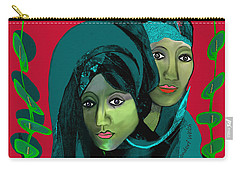 Carry-all Pouch featuring the digital art 1976 - Gloom by Irmgard Schoendorf Welch