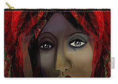 Carry-all Pouch featuring the digital art 1980 -  Leading Into Temptation 2017 by Irmgard Schoendorf Welch