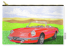 1983 Alfa Romero Spider Veloce Carry-all Pouch by Jack Pumphrey