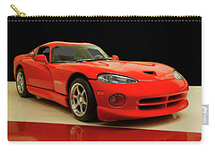 Carry-all Pouch featuring the digital art 1997 Dodge Viper Gts Red by Chris Flees