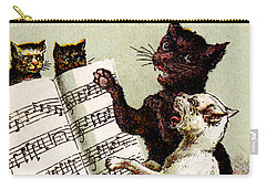 19th C. Quartet Of Singing Cats Carry-all Pouch