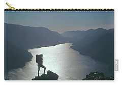 Carry-all Pouch featuring the photograph 1a4042 Silhouette At Crescent Lake Wa by Ed Cooper Photography