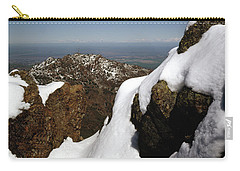 Carry-all Pouch featuring the photograph 1a6485 Snow On Mt. Diablo Ca by Ed Cooper Photography