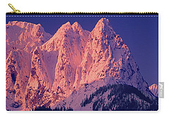 1m4503-a Three Peaks Of Mt. Index At Sunrise Carry-all Pouch