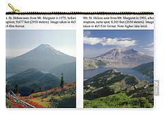 Carry-all Pouch featuring the photograph 1m4903 And 1m4948 Mt. Saint Helens Before And After Wa by Ed Cooper Photography