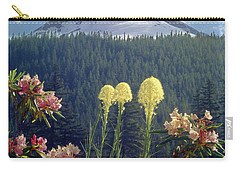 1m5101 Flowers And Mt. Hood Carry-all Pouch