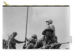 1st Flag Raising On Iwo Jima  Carry-all Pouch by War Is Hell Store