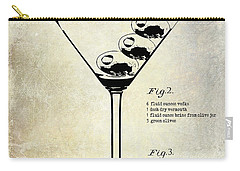 1897 Dirty Martini Patent Carry-all Pouch by Jon Neidert