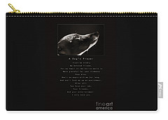 A Dog's Prayer  A Popular Inspirational Portrait And Poem Featuring An Italian Greyhound Rescue Carry-all Pouch