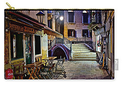 An Evening In Venice Carry-all Pouch by Frozen in Time Fine Art Photography
