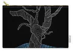 Abstract Gnarly Tree Carry-all Pouch by Serena King
