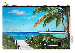 Access To The Beach Carry-all Pouch