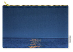 Carry-all Pouch featuring the photograph Allenhurst Beach Full Moon Rise by Raymond Salani III