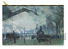 Arrival Of The Normandy Train Gare Saint-lazare Carry-all Pouch by Claude Monet