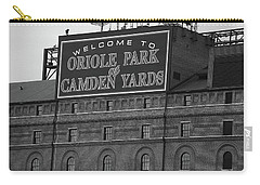 Baltimore Orioles Park At Camden Yards Bw Carry-all Pouch