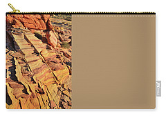 Carry-all Pouch featuring the photograph Bands Of Color In Valley Of Fire by Ray Mathis