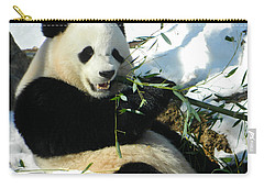 Bao Bao Sittin' In The Snow Taking A Bite Out Of Bamboo1 Carry-all Pouch