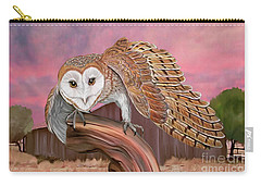 Barn Owl Carry-all Pouch by Walter Colvin