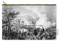 Carry-all Pouch featuring the drawing Battle Of Gettysburg by War Is Hell Store