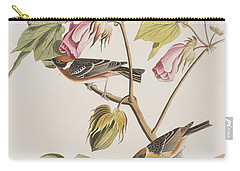 Bay Breasted Warbler Carry-all Pouch by John James Audubon