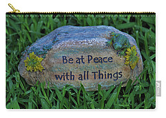Carry-all Pouch featuring the photograph 2- Be At Peace by Joseph Keane