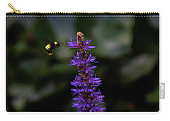 Carry-all Pouch featuring the photograph Bee by Jay Stockhaus