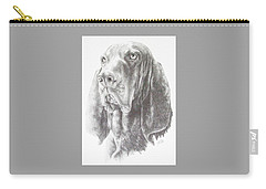 Black And Tan Coonhound Carry-all Pouch by Barbara Keith