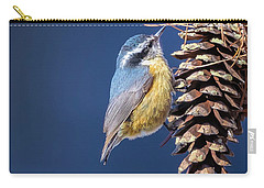 Carry-all Pouch featuring the photograph Black-capped Chickadee by Peter Lakomy