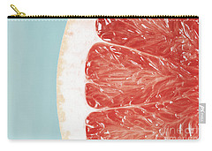 Blood Orange Slice Macro Details Carry-all Pouch by Radu Bercan