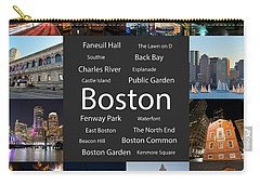 Boston Ma Collage Carry-all Pouch