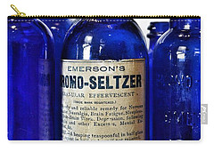 Bromo Seltzer Vintage Glass Bottles Collection Carry-all Pouch