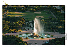 Buckingham Fountain Chicago Carry-all Pouch by Steve Gadomski