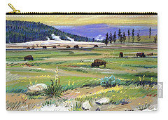 Buffaloes In Yellowstone Carry-all Pouch