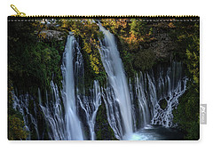 Carry-all Pouch featuring the photograph Burney Falls by Kelly Wade
