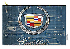 Cadillac 3 D Badge Over Cadillac Escalade Blueprint  Carry-all Pouch