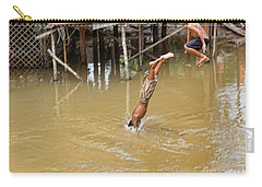 2 Cambodian Boys Dive Color Carry-all Pouch