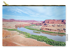 Canyon Of Colorado River In Utah Aerial View Carry-all Pouch