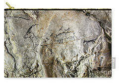 Cave Painting In Prehistoric Style Carry-all Pouch by Michal Boubin