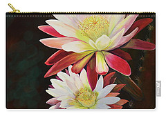Carry-all Pouch featuring the painting Cereus Business by Marilyn Smith